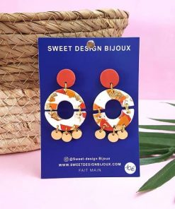 boucles d'oreilles rondes made in france