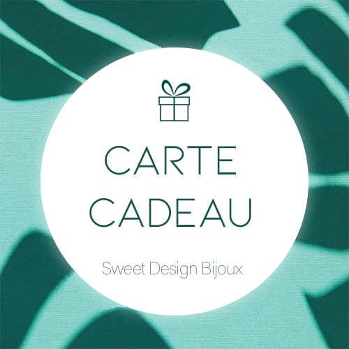 carte cadeau sweet design bijoux