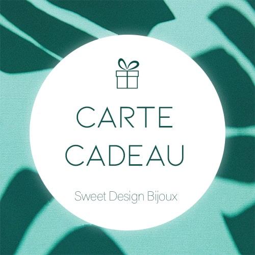 carte cadeau sweet design bijoux